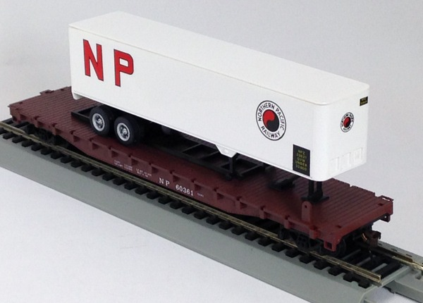Northern Pacific Flat with Nor PacificTrailer