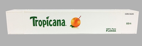 Tropicana Scheme #4 53 Ft ThermoKing Reefer 2pak Set 2