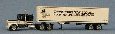HO Semi Truck Fireman's Fund (4-9502)
