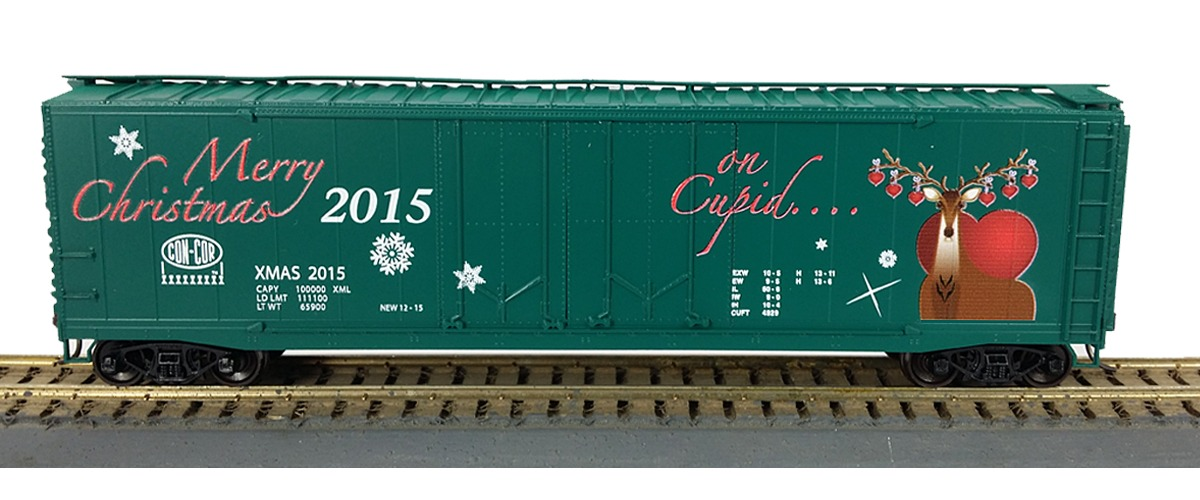 "2015 HO or N Christmas Reindeer Boxcar # 5 ""Cupid"" , Retail $ 26.98"