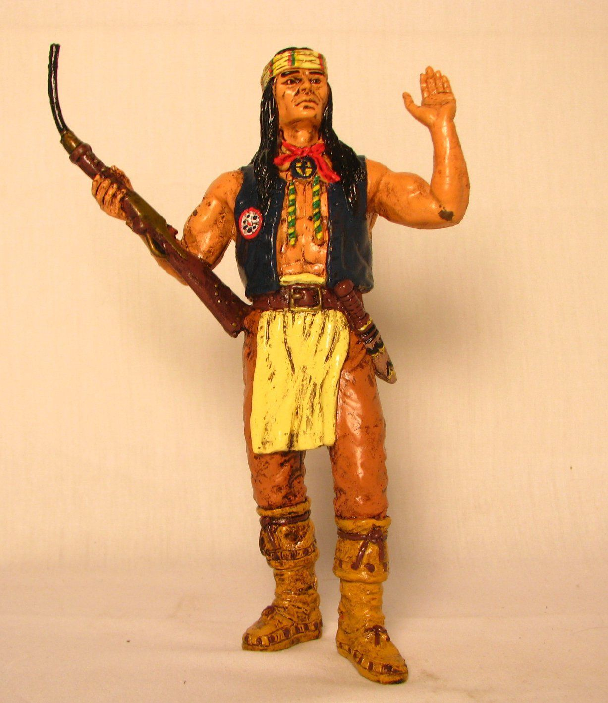 "Comansi of The Wild West Hand Painted 7"" Action Figure Cochise"