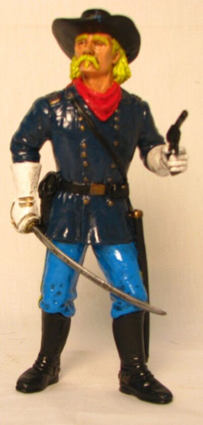 """Comansi of The Wild West Hand Painted 7"""" Action Figure General Custer"""