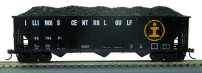 HO 12panel Hopper ILL Central #1 (1-019314)