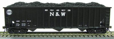 HO 15panel Hopper Norfolk & Western BLK/WHT (1019357)