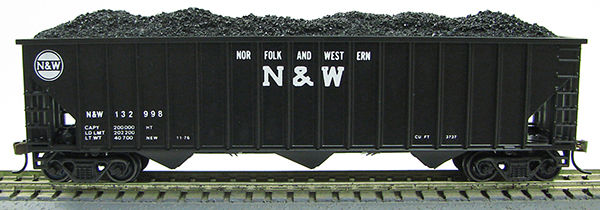 HO 15panel Hopper Norfolk & Western BLK/WHT (1019357)