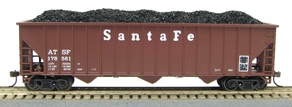 HO 15panel Hopper Santa Fe (Q) (1019355)