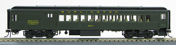 HO 1930's BCS Chicago & NW Pullman Green Passenger Combine 1-94356