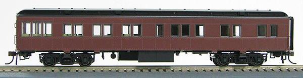 HO 1930's BCS Tuscan Red Passenger Solarium (no lettering) 1-94400