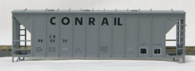 HO 2600 Cu Ft Airslide Covered Hopper (Kit) Conrail (later version) (01-9765)