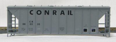 HO 2600 Cu Ft Airslide Covered Hopper (Kit) Conrail (later version) (01-9765)