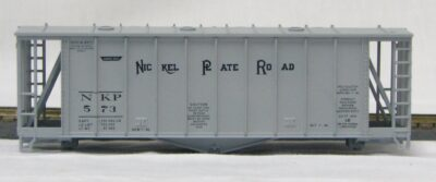 HO 2600 Cu Ft Airslide Covered Hopper (Kit) Nickle Plate Rd (01-9714)