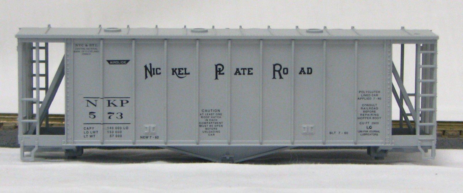 HO 2600 Cu Ft Airslide Covered Hopper (Kit) Nickle Plate Rd (01-9714)