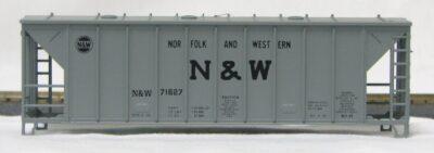 HO 2600 Cu Ft Airslide Covered Hopper (Kit) Norfolk & West (01-9753)