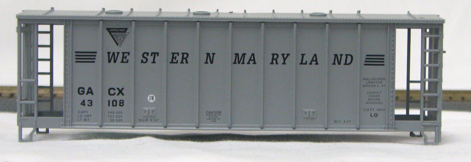 HO 2600 Cu Ft Airslide Covered Hopper (Kit) Western Maryland (01-9719)