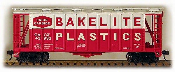 HO 2600 Cu Ft Airslide Covered Hopper (R.T.R.) Bakelite Plastics) (01-97056)