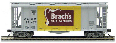 HO 2600 Cu Ft Airslide Covered Hopper (R.T.R.) Brach's Candy (01-97054)