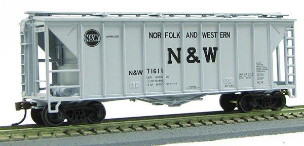 HO 2600 Cu Ft Airslide Covered Hopper (R.T.R.) Norfolk & Western (01-97071)