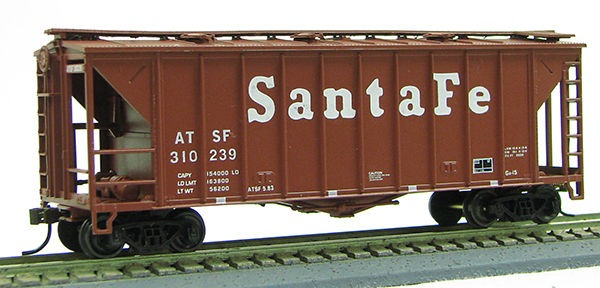 HO 2600 Cu Ft Airslide Covered Hopper (R.T.R.) Santa Fe (01-97069)