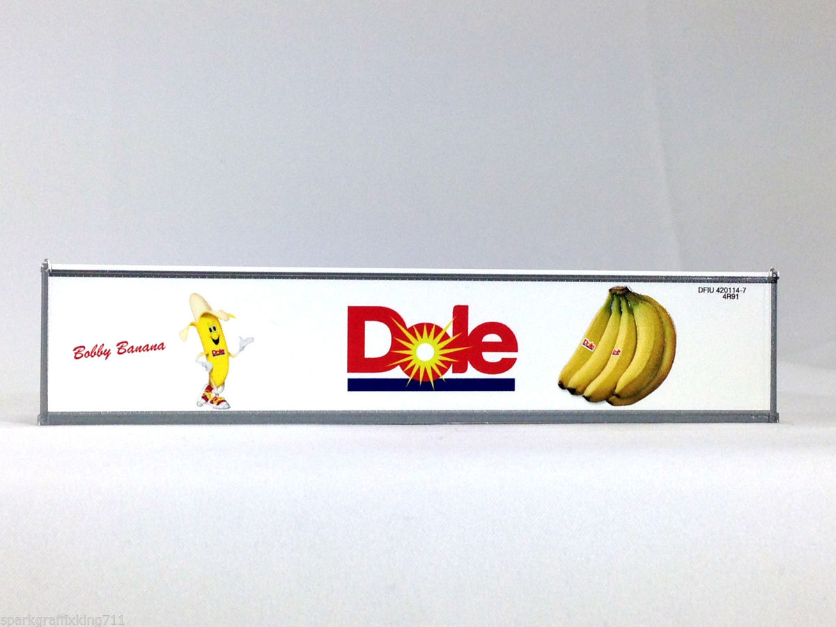 HO 40 Ft Dole Refrigerated Container Bobby Banana w/Crossed legs (4-83001)