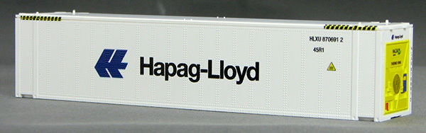HO 45 Ft Thermo King Reefer Containers, Hapag Lloyd (White ) (01) 4-083651