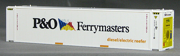 HO 45 Ft Thermo King Reefer Containers, P&O Ferrymasters (White ) (01) 4-083655