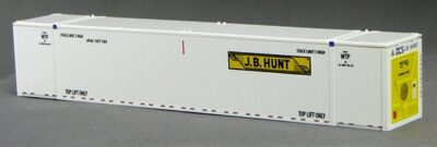 HO 53 Ft Thermo King Reefer Containers, JB Hunt (White ) (01) 4-088151