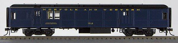 HO BCS Norfolk & Western Baggage-Mail Pevler Blue Scheme 0001-094334