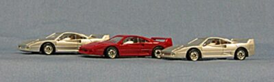 HO Ferrari F-40 Exceptional Detailing, great price ! 3-pak (4-4005)