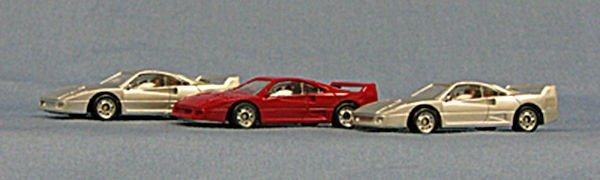 HO Ferrari F-40 Exceptional Detailing, great price ! 3-pak (4-4005)
