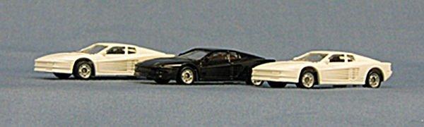 HO Ferrari Testarossa Exceptional Detailing, great price ! 3-pak (4-4004)