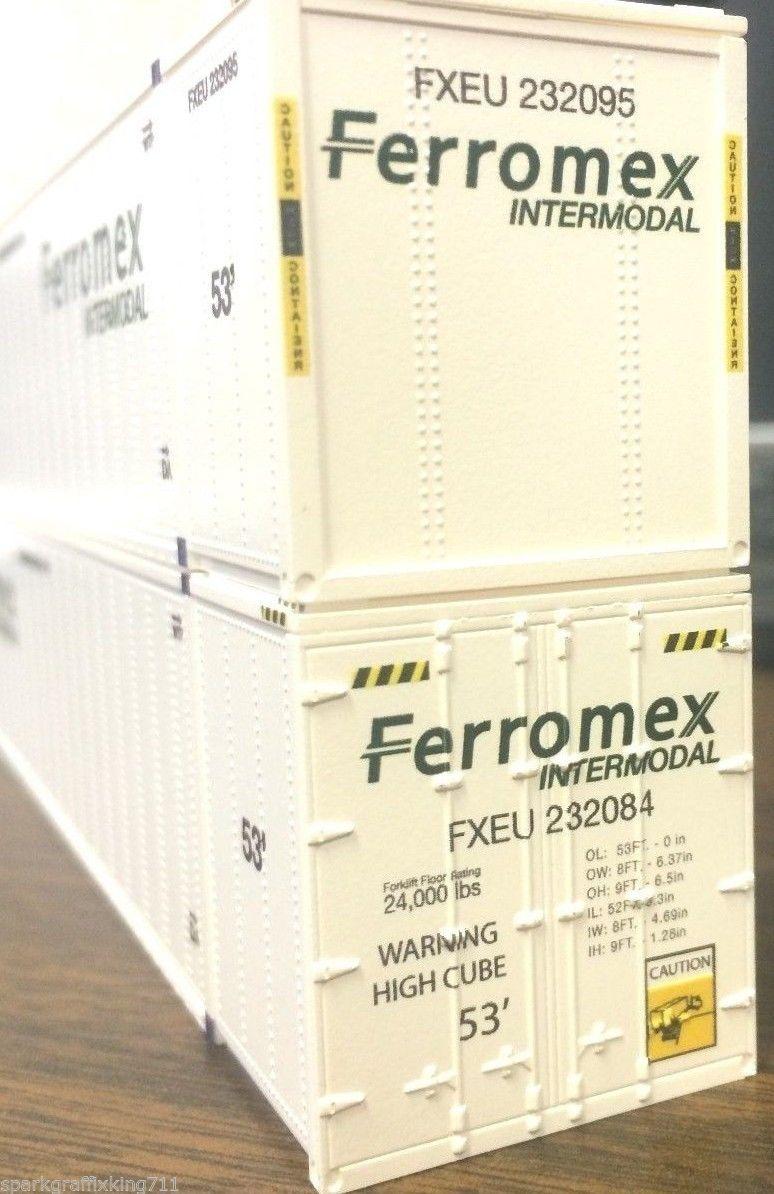 HO HI-CUBE 53FT CONTAINER FERROMEX INTERMODAL 2PK 0004-088024 (02)