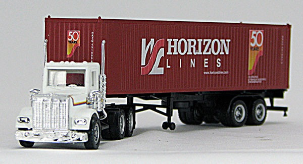 HO Horizon 50th Anniv 40' Container #451905 and Chassis w/ QG Trailer (4-009615)