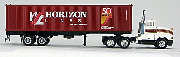 HO Horizon 50th Anniv 40' Container #451946/Chassis w/ Huckabee Tractor(4-09616)