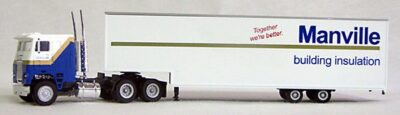 HO Manville Trucking 18 Wheeler (4-1105)