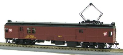 HO Pennsy Keystone Non-powered Baggage Mail MUmP54 with Pans (1-94579)