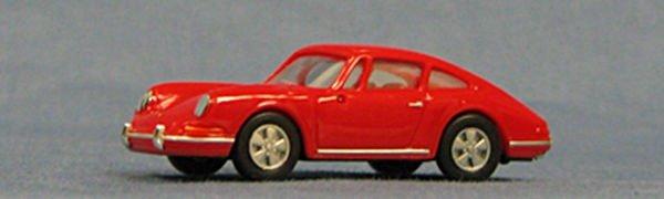 HO Porsche 911 (1966), red, Exceptional Detail !! (single pak) (4-4035)
