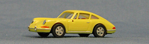 HO Porsche 911 (1966), yellow Exceptional Detail !! (single pak) (4-4034)