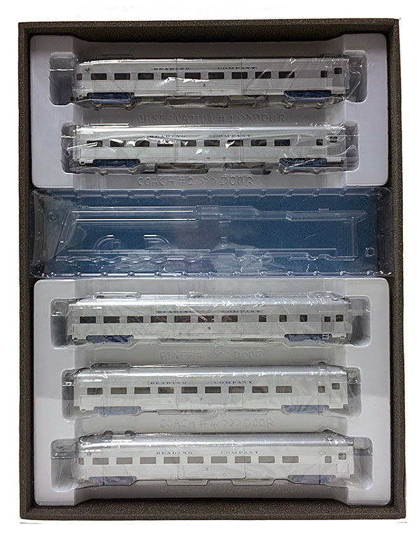 "HO Reading Crusader 5 car ""Budd"" RTR Pass. Car Set (by GHB) # 283-121"