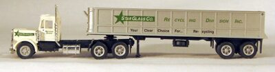 HO Star Glass Semi-Dump Truck (hightly detailed & fully assembled) 4-000100
