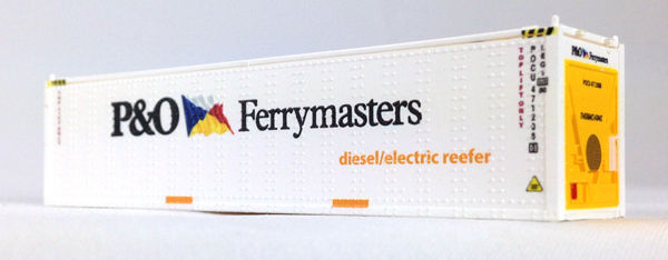 N 40 Ft Reefer P & O Ferrymasters (white) 2-pk (01) 04-043105