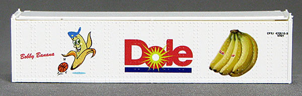 N 40 Ft TK Reefer Container Dole/Bobby Banana Basketball (White ) (01) 4-43114