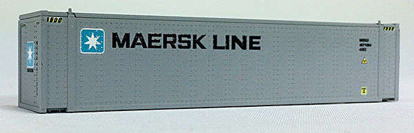 N 45 Ft Cont Maersk, Medium Lettering, Gray Container (04044005) (01)