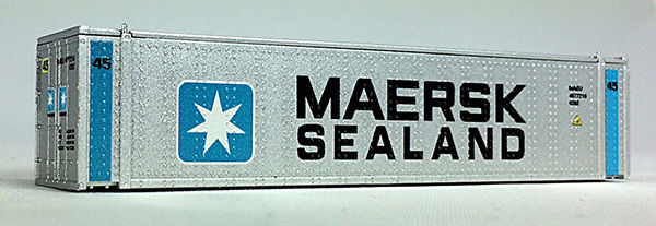 N 45 Ft Cont MaerskSeaLand, Vertical Bars, Gray Container (04044008) (02)