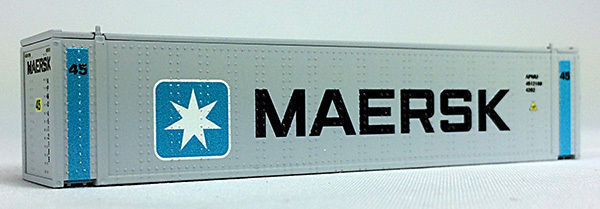 N 45 Ft Cont Maersk Vertical Bars (Gray Container) (04044003) (01)