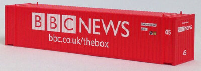 N 45 Ft Corrugated Container BBC TV (Red) (01) 04-44109