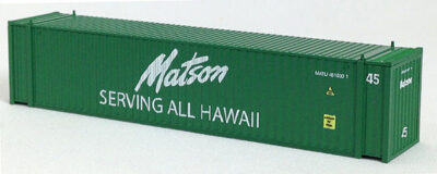 N 45 Ft Corrugated Container Matson (Green) (01) 04-44107