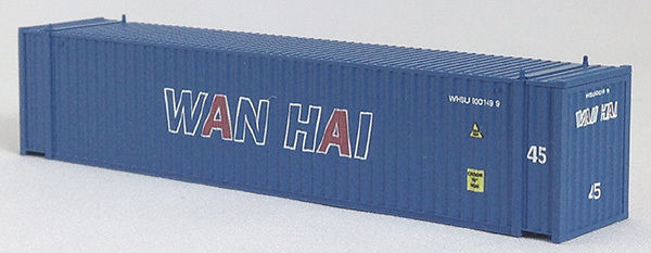 N 45 Ft Corrugated Container Wan Hai (blue) (01) 04-44105
