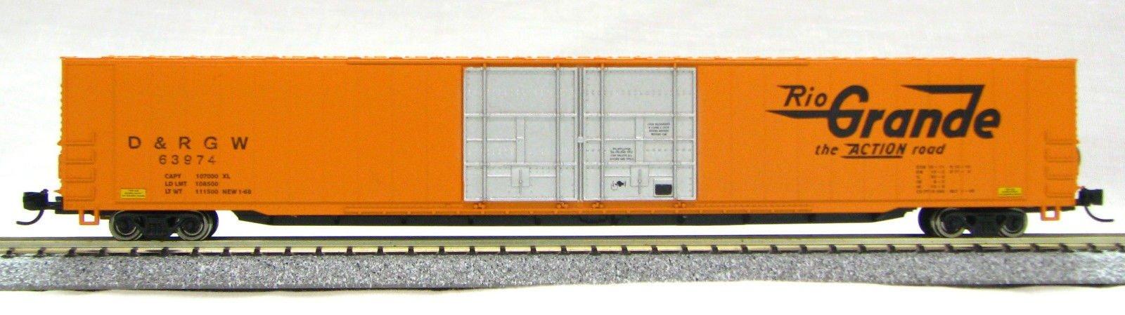 N Scale 4 Door 85 Ft Hi-Cube, Rio Grande Orange (with MT couplers) 1-014666