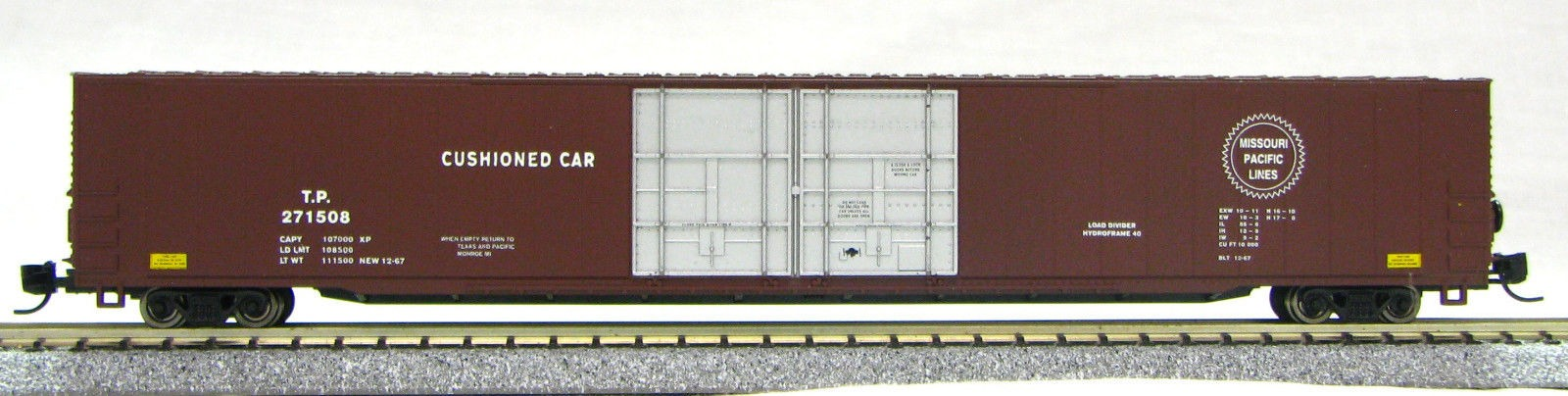 N Scale 4 Door 85 Ft Hi-Cube,Missouri Pacific Lines (with MT couplers) 1-014673