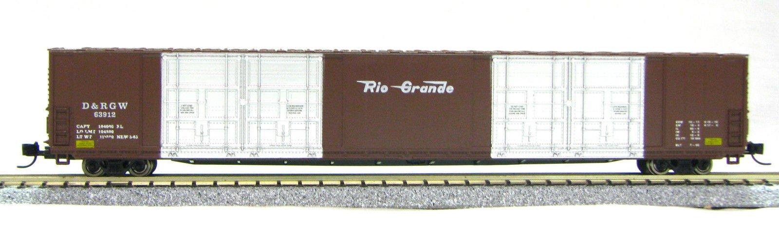 N Scale 8 Door 85 Ft Hi-Cube, Rio Grande (with MT couplers) 01-014633